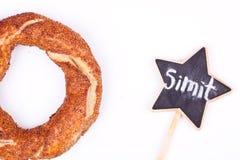 Turkish bagel simit Royalty Free Stock Photo
