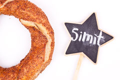 Turkish bagel simit Stock Photography