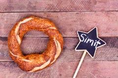 Turkish bagel simit Stock Images