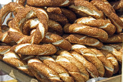 Turkish bagels Stock Photo