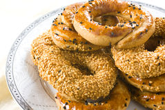 Turkish bagels with sesame Royalty Free Stock Photography