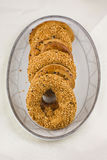 Turkish bagels with sesame Stock Image