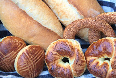 Turkish bagels, simit and breads Stock Photography