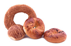 Turkish bagels. ( Simit,pogaca and acma ) Royalty Free Stock Image