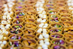 Turkish baklava assortment Royalty Free Stock Photo