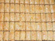 Turkish baklava cakes Stock Photos