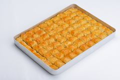 Turkish baklava dessert Stock Image