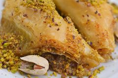 Turkish baklava dessert Stock Images