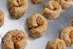 Turkish baklava dessert Stock Images