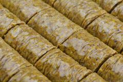 Turkish baklava dessert Royalty Free Stock Photos