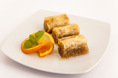 Turkish baklava dessert Royalty Free Stock Image