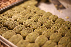 Turkish baklava at market Royalty Free Stock Photo