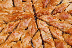 Turkish baklava. Pic of turkish baklava macro Stock Photography