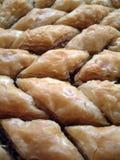 Turkish baklava with walnuts Stock Photography