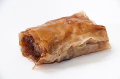 Turkish baklava on white background Stock Image
