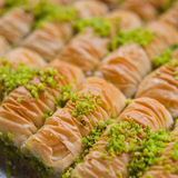 Turkish Baklavas with pistachio nuts Stock Photography