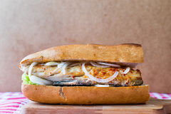 Turkish Balik Ekmek / Fish sandwich. Royalty Free Stock Photography