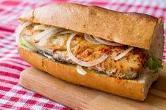 Turkish Balik Ekmek / Fish sandwich. Traditional fastfood Royalty Free Stock Photos