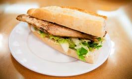 Turkish Balik Ekmek Fish sandwich.. Traditional Turkish fastfood royalty free stock image