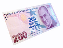 Turkish banknot. 200 Turkish Lira banknote front side Stock Photo