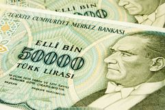 Turkish banknotes Royalty Free Stock Image