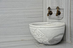 Turkish bath. Detail of a marble bassin of a turkish bath Royalty Free Stock Images