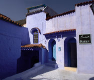 Turkish bath. View of a Turkish bath (hamam) at Chefchaouen in Morocco stock photos