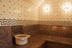 Turkish bath. With ceramic tile in roman style Stock Photo