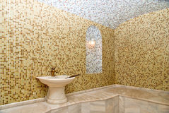 Turkish bath. With ceramic tile in roman style Royalty Free Stock Photo