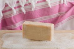 foam soap on the wood royalty free stock images