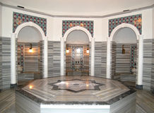 Turkish bath (Hamam) at hotel's spa Stock Images