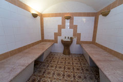 Turkish bath hamam interior empty traditional Royalty Free Stock Image