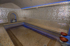 Turkish bath or Hamam at spa area. Traditional styled luxurious Turkish bath or hamam at spa area Stock Photos