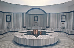 Turkish bath (Hamam) with steam at hotel's spa Stock Photo