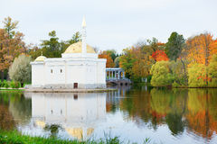 Turkish bath pavilion. In Catherine park of Pushkin, Saint-Petersburg Stock Photo