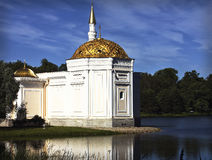 Turkish bath. Pavilion in the Catherine Park in PushkinPavilion  tradition of Catherine completed the construction of military glory monument in the Catherine Stock Image