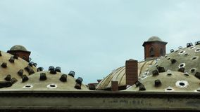 Turkish Bath Roof in Manisa. Video stock video