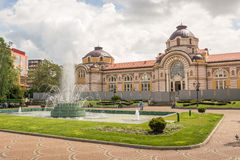Turkish Baths in Sofia, Bulgaria. The ornate building of the Turkish baths and the square before it in Sofia, Bulgaria Stock Photos