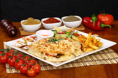 Turkish Bazlama Sandwic Стоковое Фото