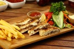 Turkish Bazlama Tost/здравица sandwic Стоковые Фото