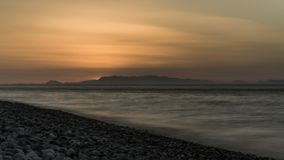 Turkish beaches in the light of sunset royalty free stock images