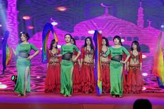 Turkish belly dance-Women entrepreneurs chamber of Commerce celebrations. In March 18, 2018, organized by the Nanchang Municipal Chamber of women entrepreneurs Royalty Free Stock Image