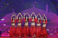 Turkish belly dance-Women entrepreneurs chamber of Commerce celebrations. In March 18, 2018, organized by the Nanchang Municipal Chamber of women entrepreneurs Stock Image