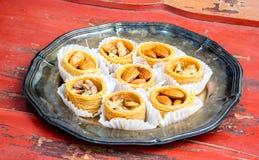 Turkish bird's eye sweets Royalty Free Stock Photo
