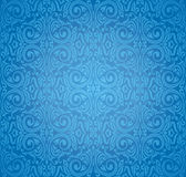 Turkish blue vector pattern wallpaper design background Royalty Free Stock Photography