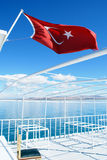 On the turkish boat. Tourist boat on the lake Van Stock Image