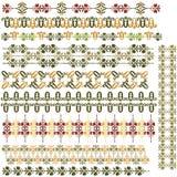 Turkish border01. Studied the eastern border set of antique patterns Royalty Free Stock Image
