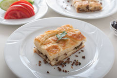 Turkish Borek - Su boregi on breakfast table Stock Image