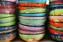 Turkish Bowls Royalty Free Stock Photography