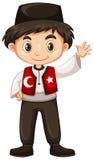 Turkish boy waving hand hello Royalty Free Stock Image